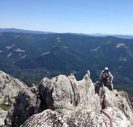 Castle Crags Climber